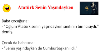 Atatürk Senin Yaşındayken - Çocuk Fıkraları - Komikler Burada