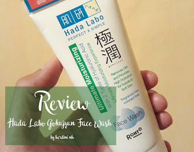 hada labo gokujyun face wash review