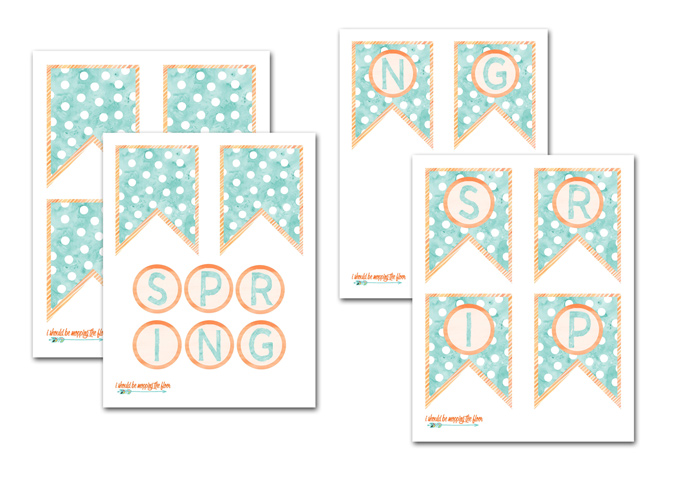 Spring Banner Printable