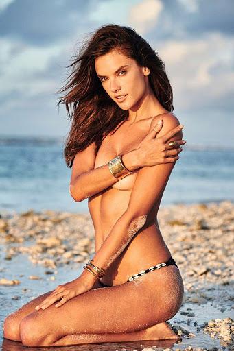 Hot model Alessandra Ambrosio topless photo shoot for GQ Brazil Magazine