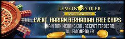 Situs Poker Online Indonesia Bonus DEPOSIT 20%+Gratis Chip di LEMONPOKER