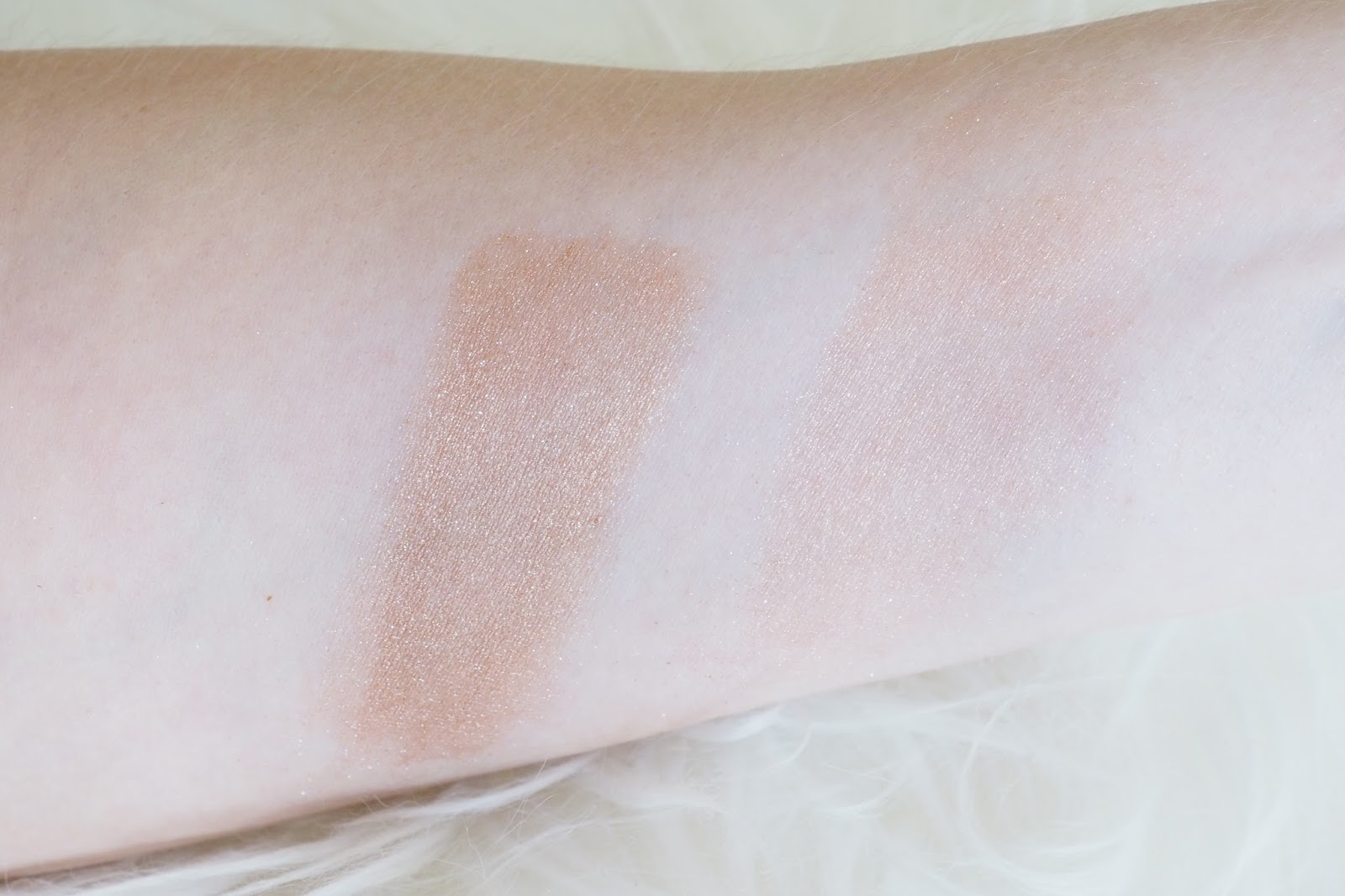 MAC Mariah Carey Touch My Body Powder Swatches