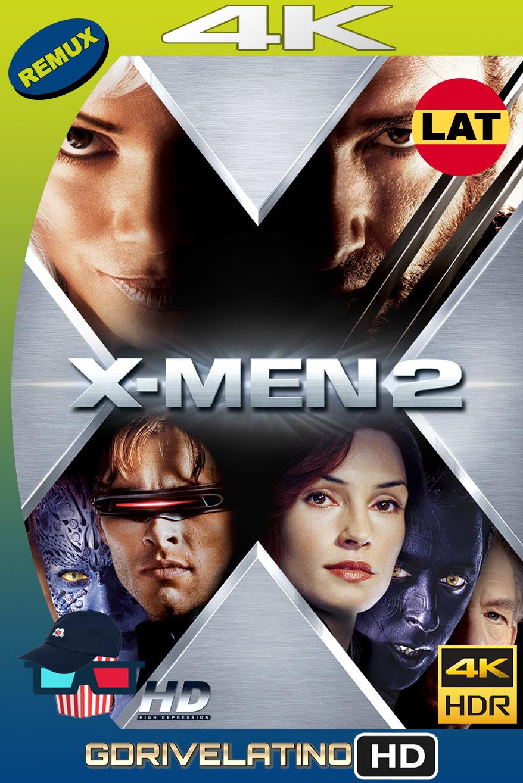 X-Men 2 (2003) BDRemux 4K HDR Latino-Ingles MKV