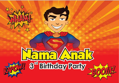 Download Banner Ulang Tahun Tema Superman