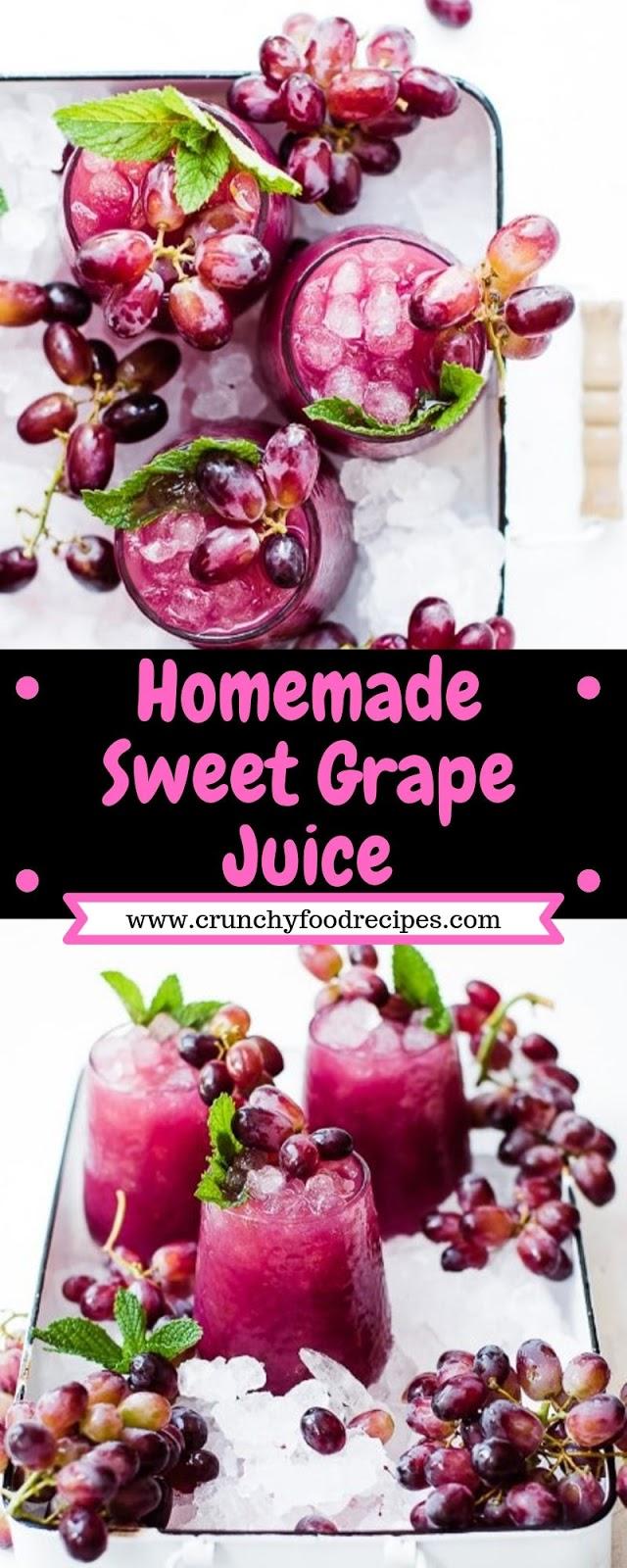 Homemade Sweet Grape Juice