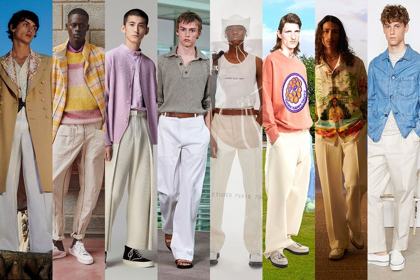 White pants are the new cowboy.