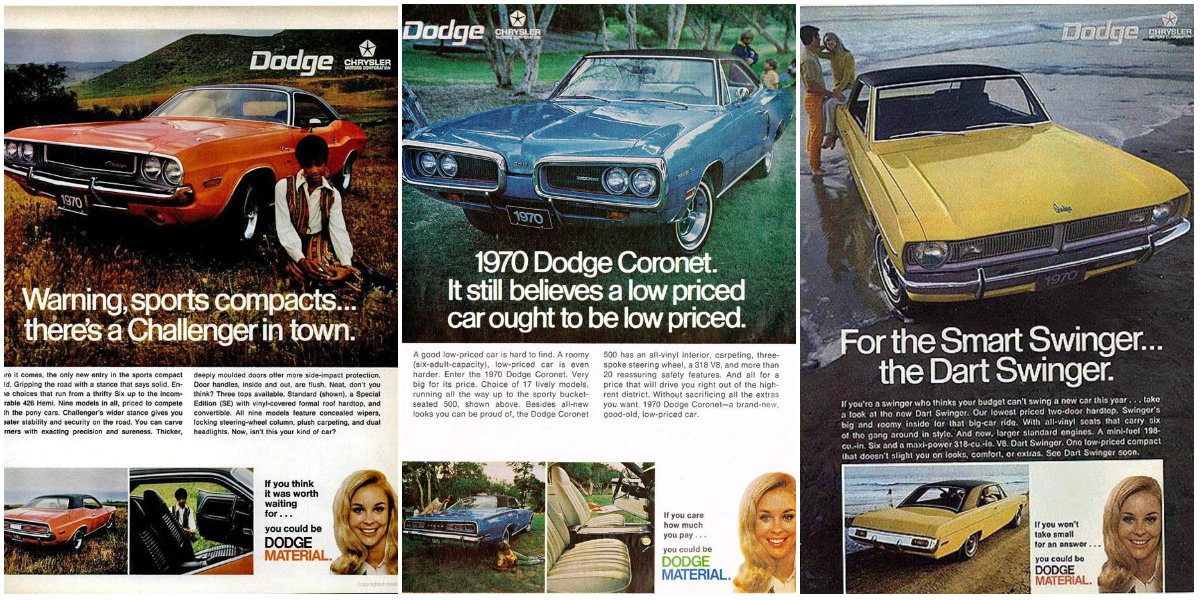 35 Amazing Vintage Print and TV Ads for 1970 Dodge Models