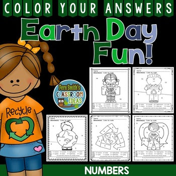 Earth Day Color By Numbers Earth Day Math Know Your Numbers