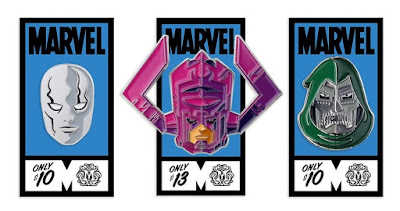 Fantastic Four Marvel Portrait Enamel Pins by Tom Whalen x Mondo