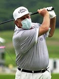 1969 U.S. Open Champion Orville Moody Wearing a Surgical Mask While Playing Golf