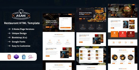 Food & Restaurant HTML Template