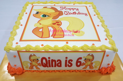 Birthday Cake Edible Image Apple Jack