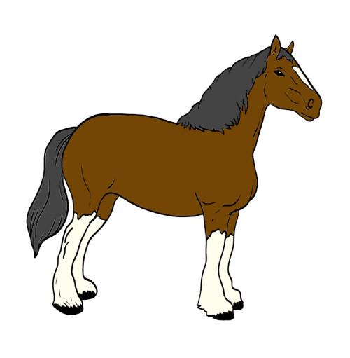 Crapouillotage le cheval - Imprimer un cheval ...