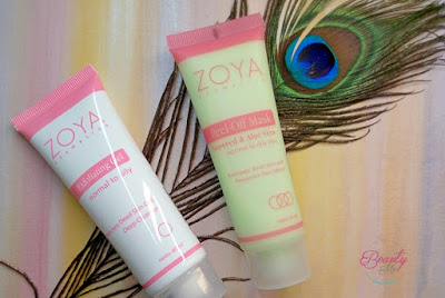 review zoya cosmetics exfoliating gel dan peel off mask