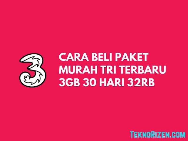 Paket Murah Tri 3GB 30 Hari Cuman Rp 32.000