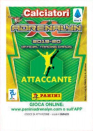 ADRENALYN XL CALCIATORI 2019 20 N.401 GOLLINI ATALANTA GUANTI D/'ORO