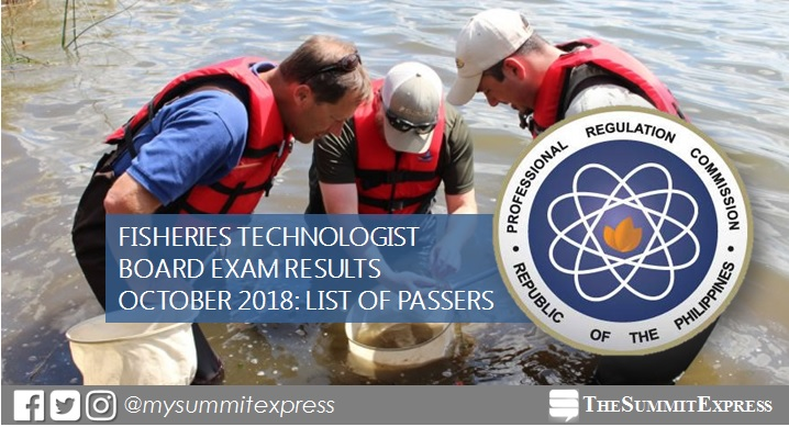 FULL RESULTS: October 2018 Fisheries Technologist board exam
