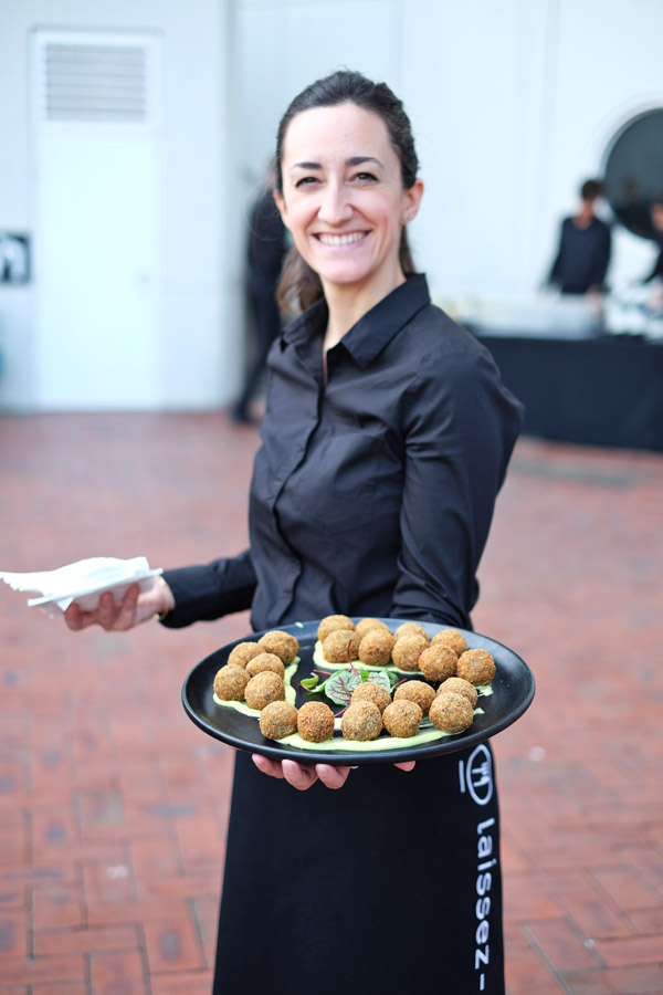 Risotto balls at the 2020 program launch Maritime Museum Sydney