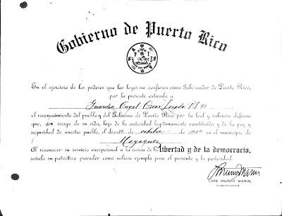 Certificado Medalla de Oro Angel Oscar Lozada Torres