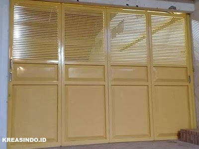 Daftar Harga Berbagai Macam Pintu Garasi Besi Cat Powder Coating dan Pintu Lipat Biasa