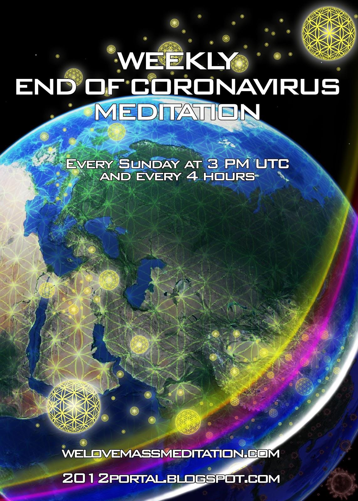 Meditacija za konec koronavirusa vsako nedeljo ob 16:00 uri ter na vsake 4 ure