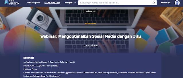 Kelas Media sosial Optimalkan kelas nya
