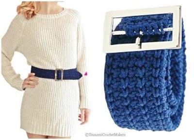 36 Cinturones tejidos a crochet diferentes modelos