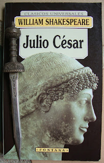 Portada del libro Julio César, de William Shakespeare