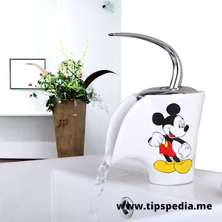 mickey mouse bathroom faucet
