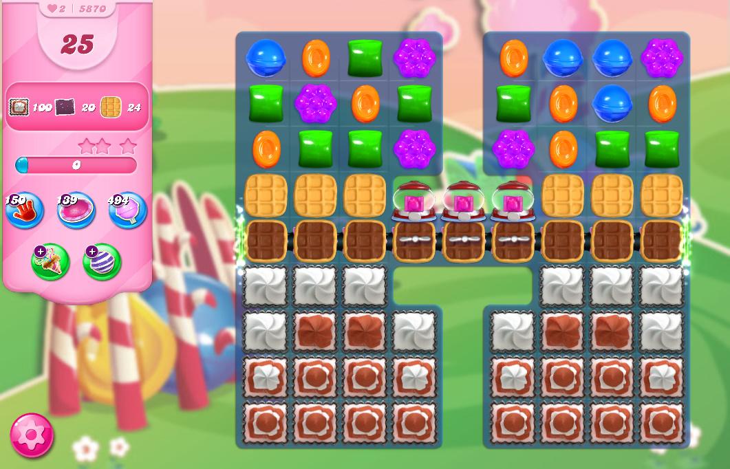 Candy Crush Saga level 5870
