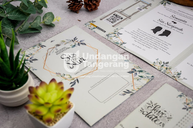 Undangan Pernikahan Tangerang dengan Tema Florist dan Green - Walimahanid | 0812-1141-8687
