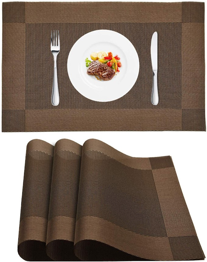 40% OFF Wlife Placemats  Heat-Resistant Placemats Stain Resistant Washable PVC Table Mats