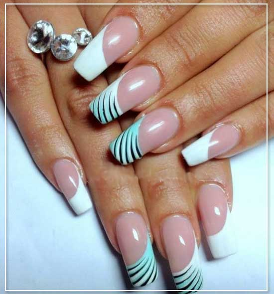 Diagonal Nail Art Design