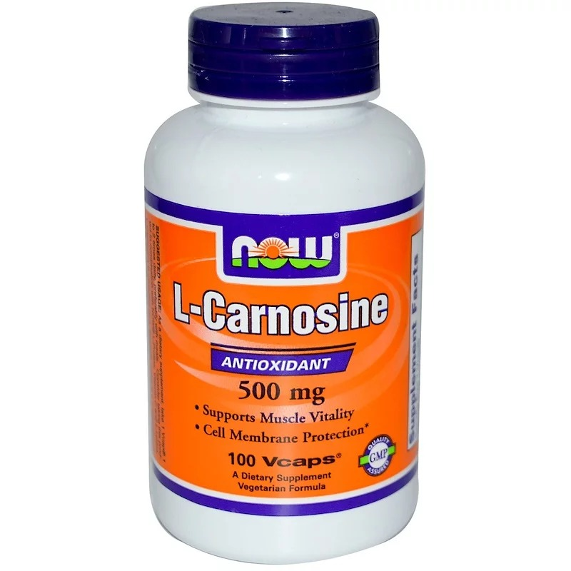 Now Foods, L-Carnosine, 500 mg, 100 Vcaps