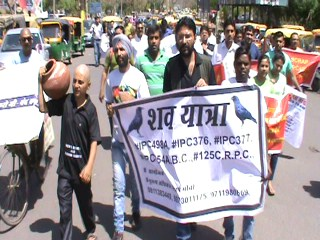 man-protest-against-women-in-faridabad