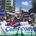 Cientos de personas se congregaron para manifestarse en contra de la reforma a la Carta Magna