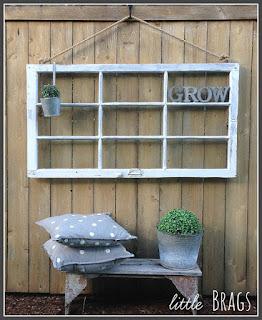 Old Window On Fence