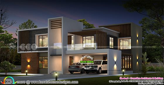 3900 square feet ultra modern 4 BHK house