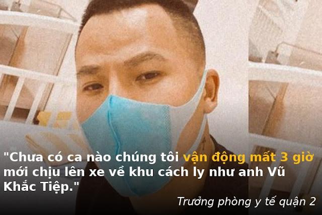 Ý thức kém của người nổi tiếng Vũ Khắc Tiệp, không chụi cách ly, còn dọa viết Facebook