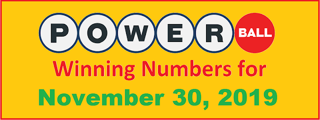 PowerBall Winning Numbers for Saturday, November 30, 2019