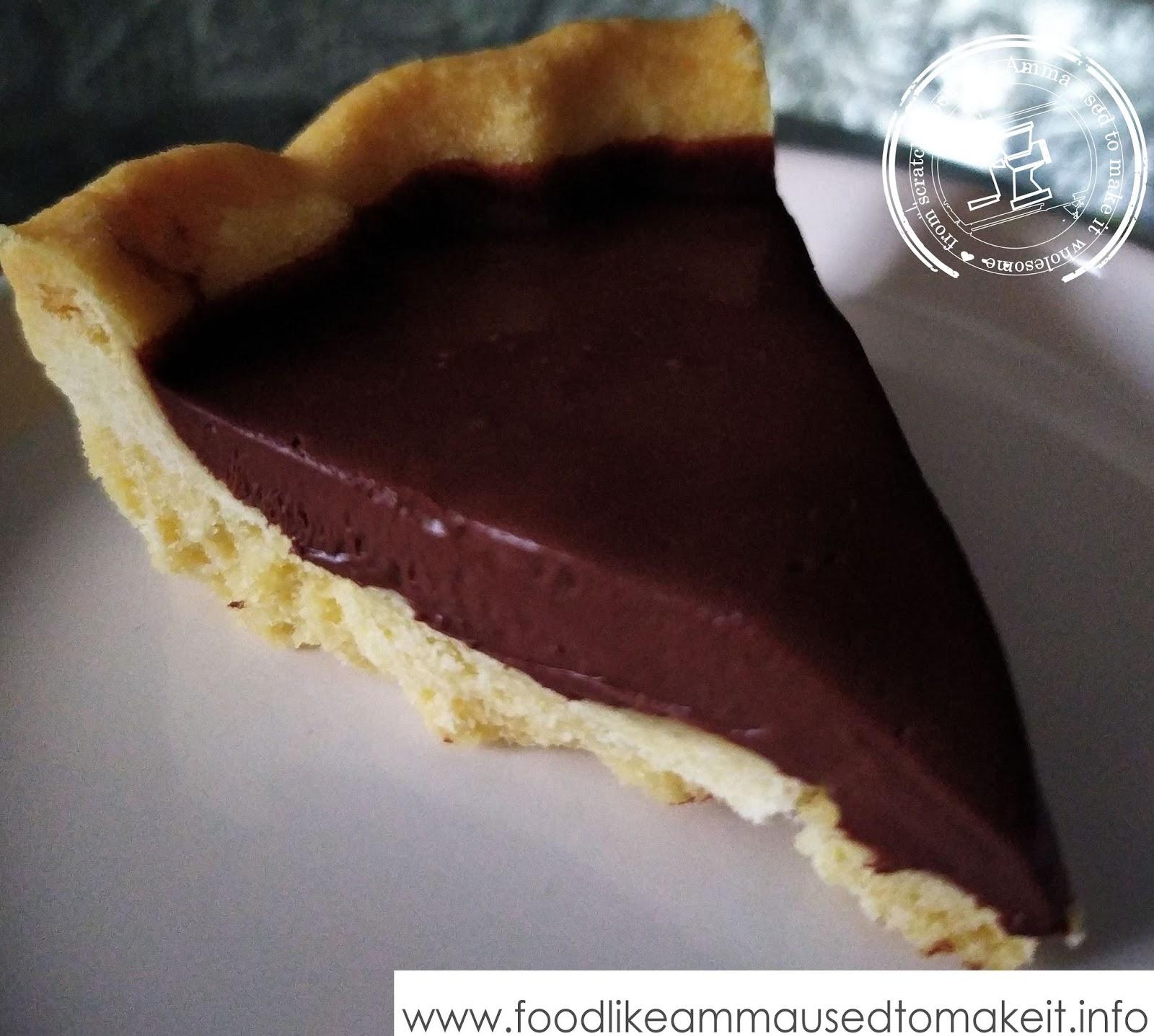Chocolate Ganache Tart with Shortbread Crust