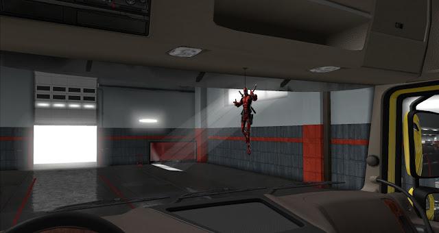 ets 2 ij's air fresheners & hanging toys screenshots 3, deadpool cabin accessory
