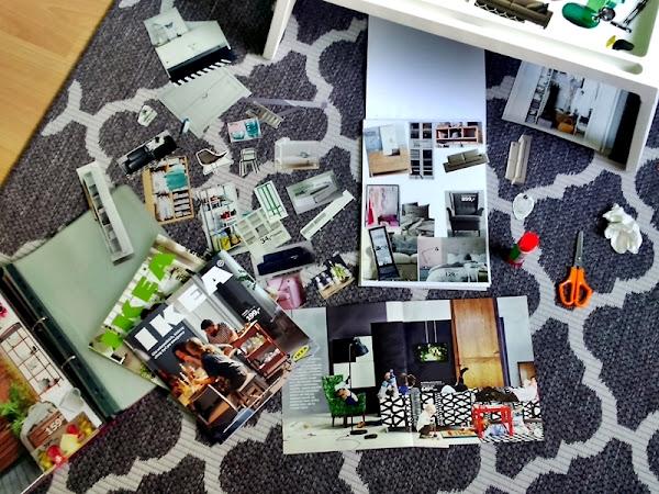Pocięłam stare katalogi z IKEI