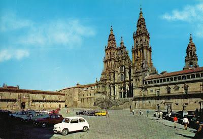 Santiago, Obradoiro, Catedral, Hostal, postal