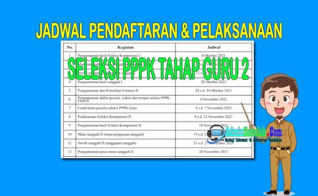Jadwal Pendaftaran PPPK Guru Tahap 2 Tahun 2021