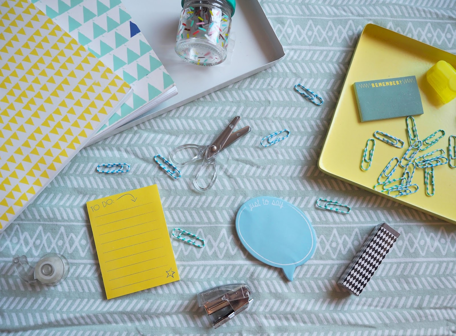 Cute Stationery Flatlay