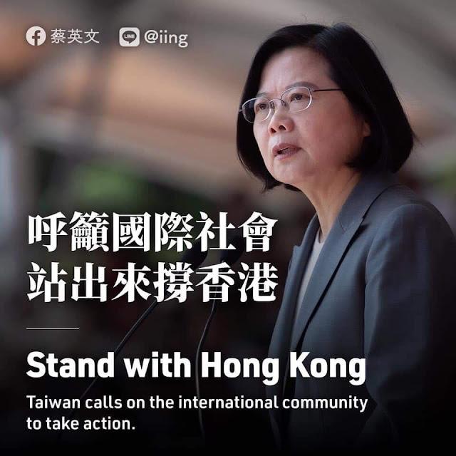Bà Thái Anh Văn: Không nên dùng máu của thanh niên Hồng Kông để trang điểm bộ mặt Bắc Kinh