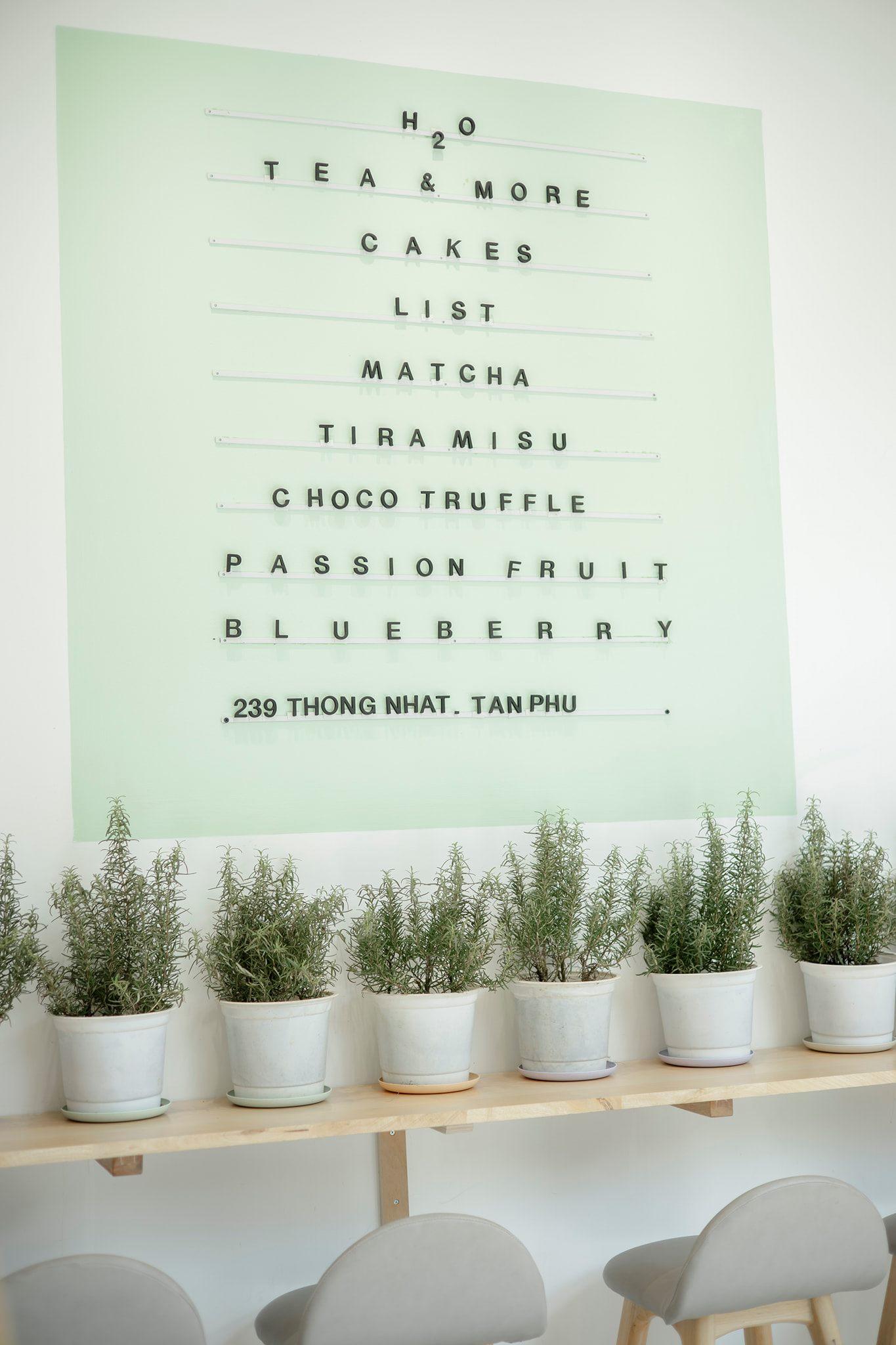 Tiệm trà H2O tea & more Tân Phú