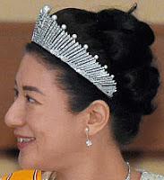 pearl sunburst tiara fringe japan empress michiko mikimoto masako
