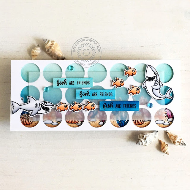 Sunny Studio Stamps: Sea You Soon Best Fishes Tropical Scenes Everyday Card by Candice Fisher